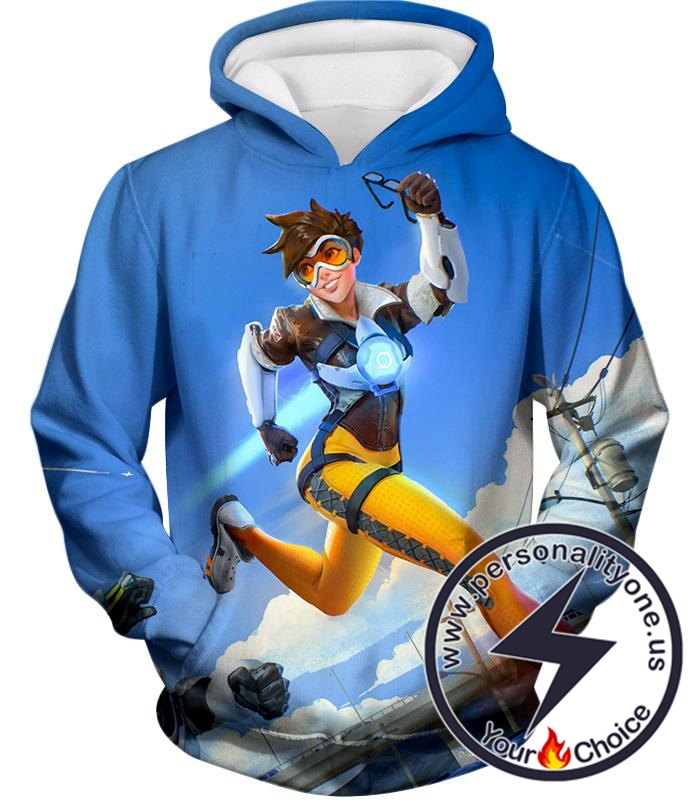 Overwatch Offense Hero Tracer Hoodie