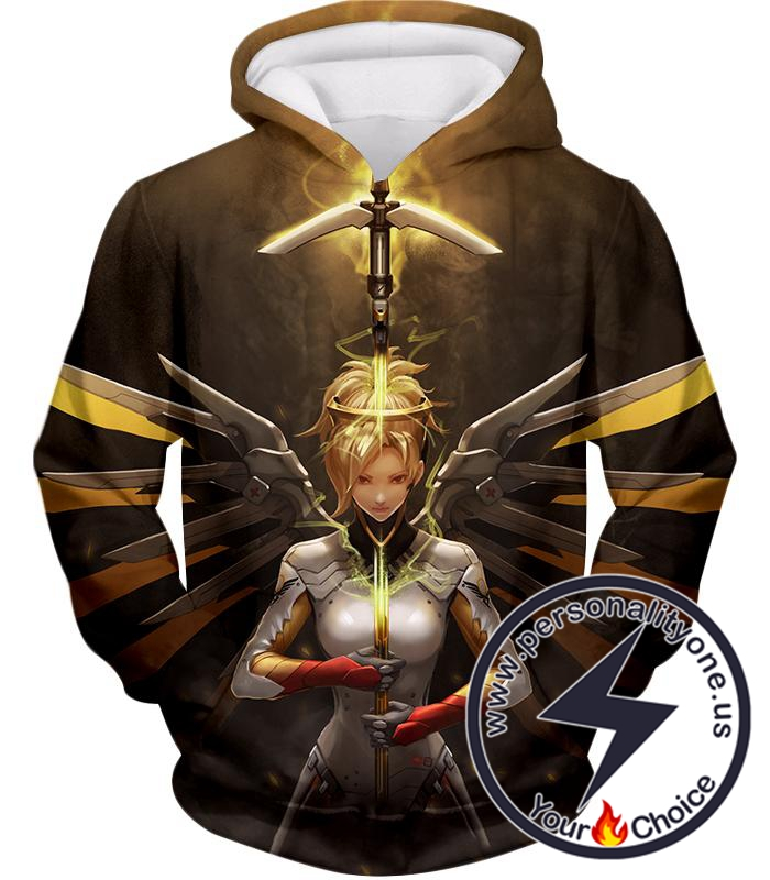 Overwatch Support Hero Valkyrie Mercy Hoodie