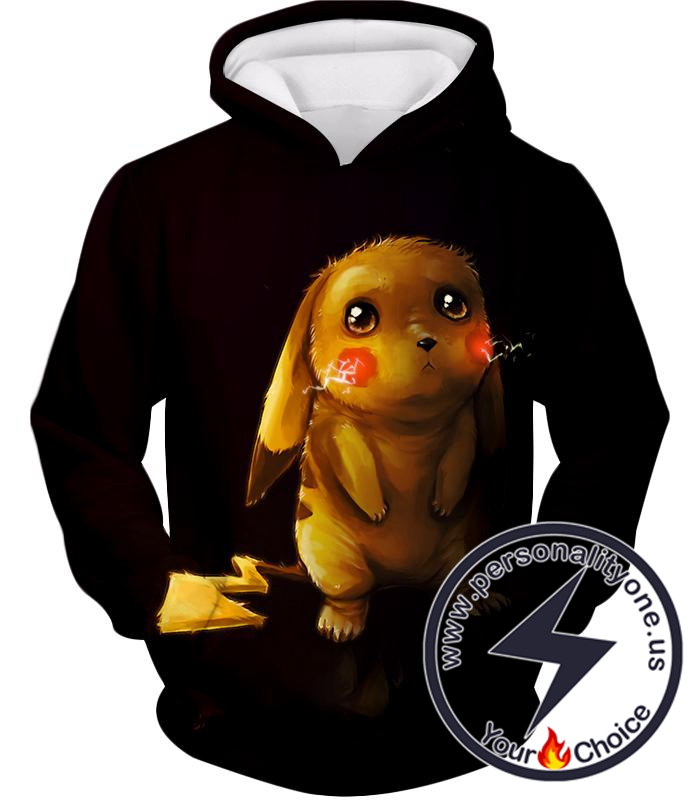 Pokemon Amazing Psychic Pokemon Mewto Cool Black Hoodie