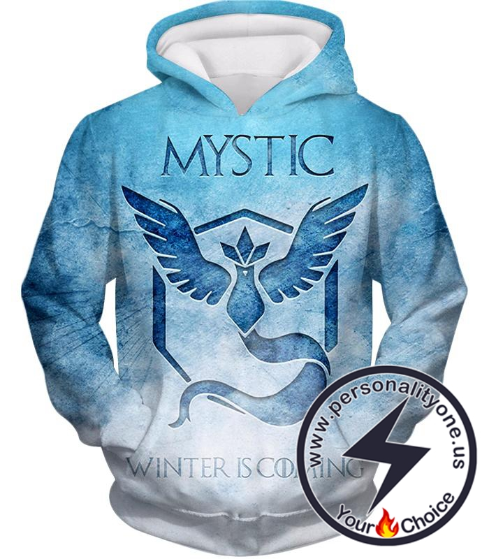 Pokemon Articuno Mystic Pokemon Winter is Coming Promo Blue Hoodie