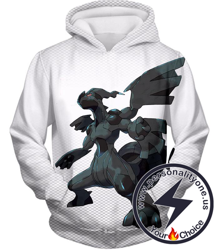 Pokemon Awesome Legendary Pokemon Zekrom Black and White Series Hoodie