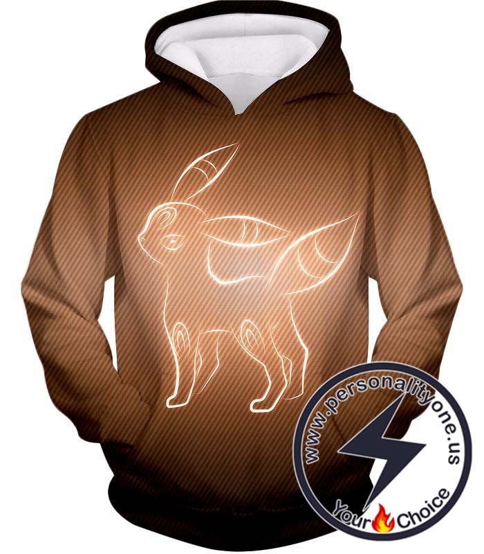Pokemon Cool Dark Pokemon Umbreon Awesome Sketch Graphic Hoodie