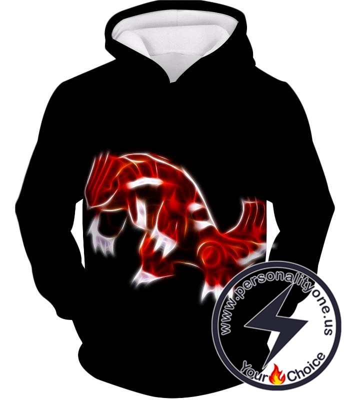 Pokemon Cool Legendary Continental Pokemon Groudon Awesome Black Hoodie
