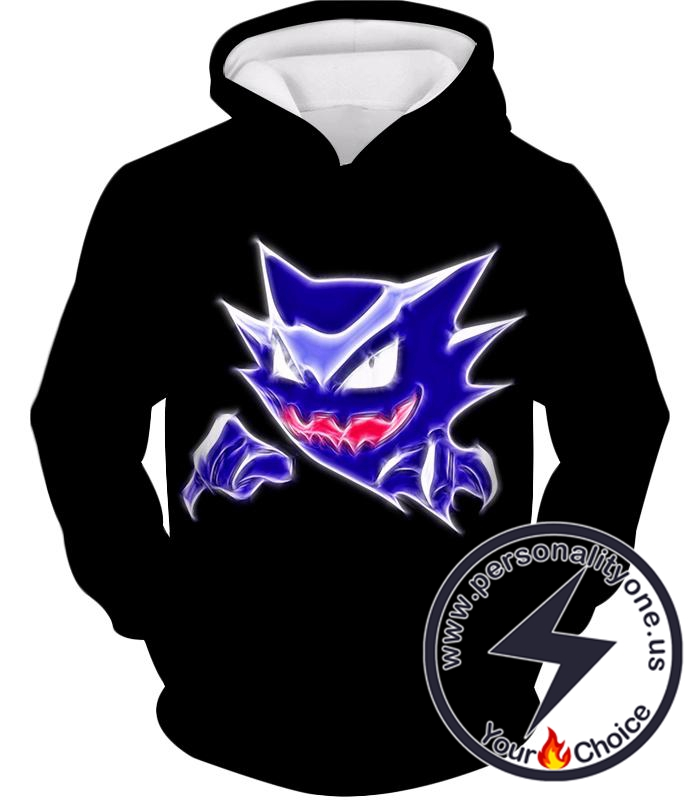 Pokemon Favourite Ghost Type Pokemon Haunter Anime Black Hoodie
