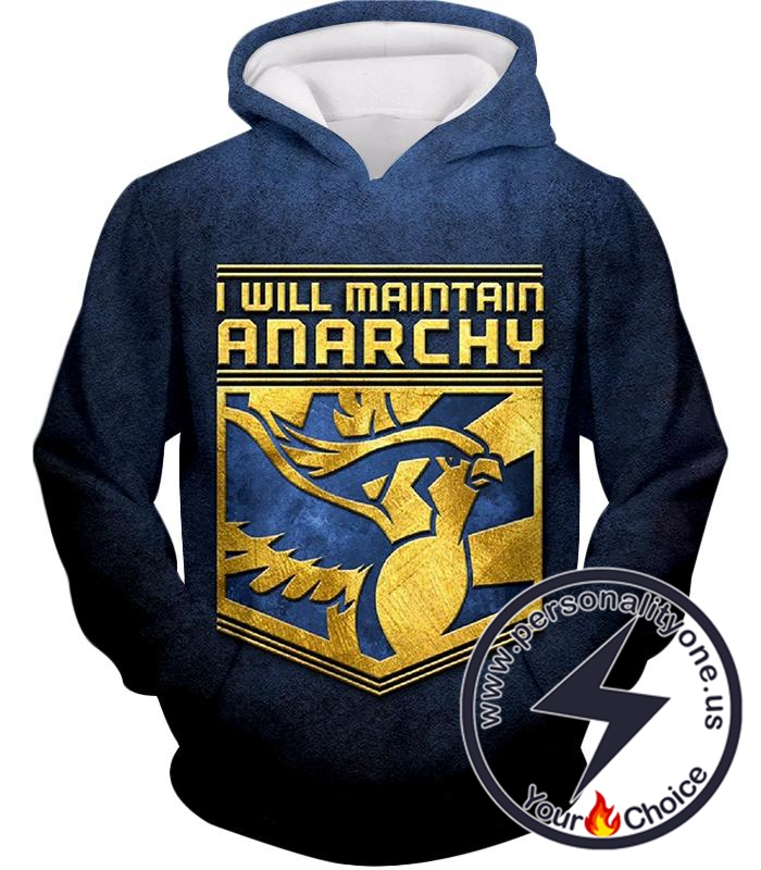 Pokemon I Will Maintain Anarchy Pokemon Promo Quote Cool Hoodie