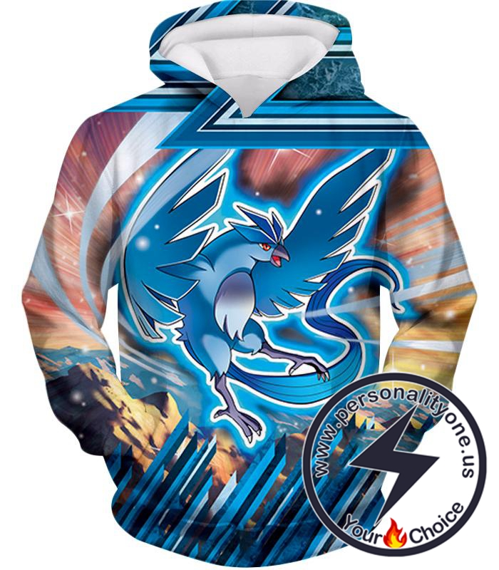 Pokemon Ice Flying Mystic Pokemon Articuno Awesome Action Hoodie