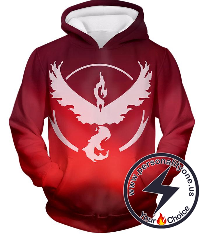 Pokemon Legendary Fire Pokemon Moltress Symbol Amazing Red Hoodie