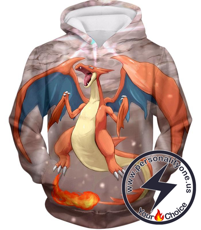 Pokemon Super Cool Fire Type Pokemon Charizard Awesome Action Hoodie