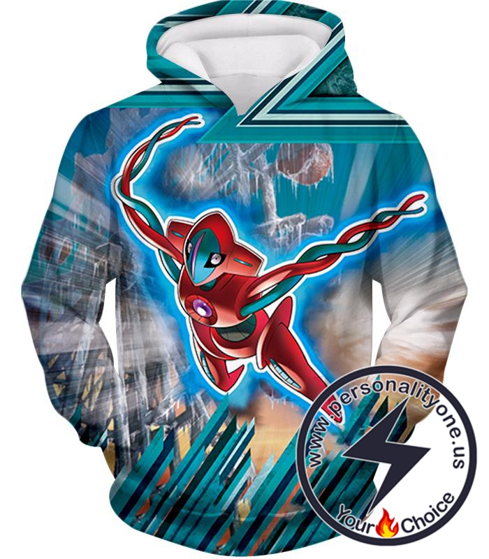 Pokemon Super Cool Space Mutated Pokemon Deoxys Action Hoodie