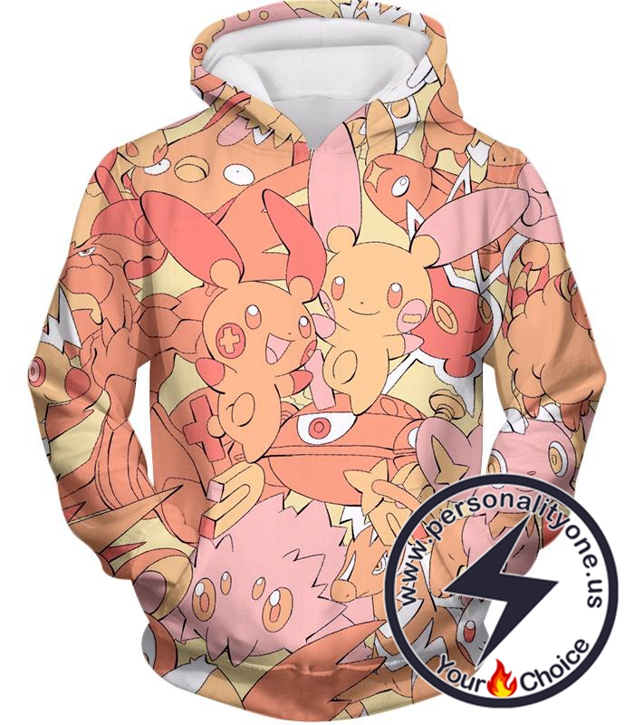 Pokemon Super Cute Thunder Type Pokemons All in One Cool Hoodie