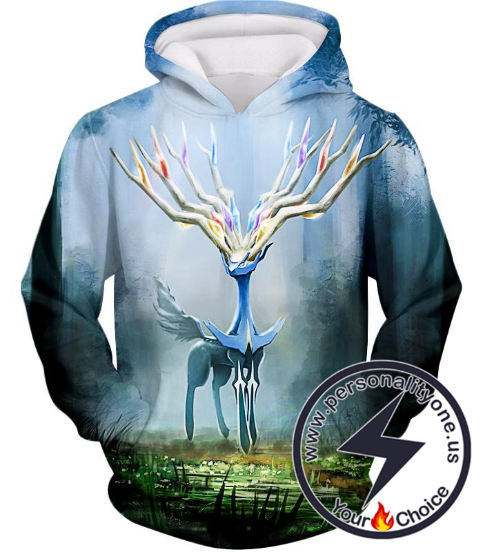 Pokemon Very Cool Fairy Type Pokemon Xerneas Awesome Anime Graphic Hoodie