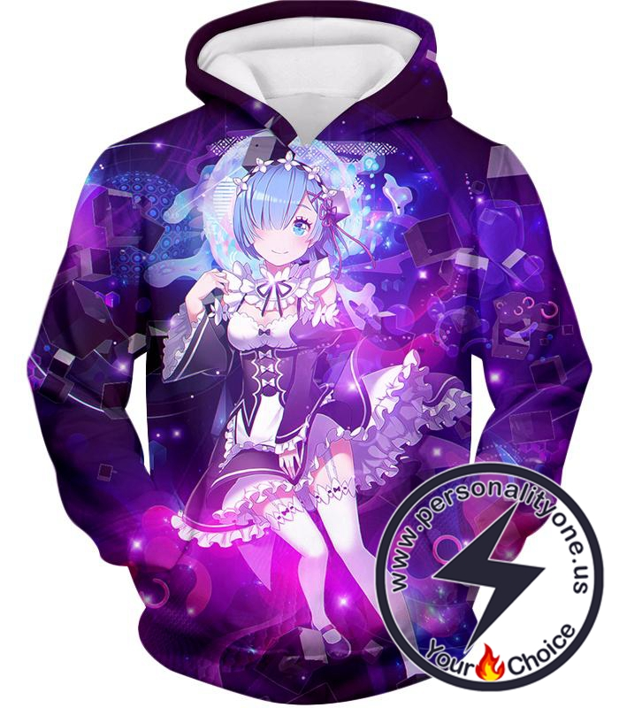 Re:Zero Very Cute Anime Maid Rem Awesome Print Hoodie