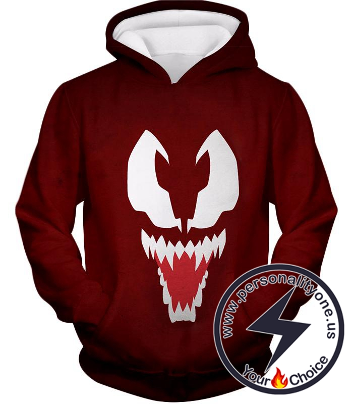 Red Scary Venom Hoodie