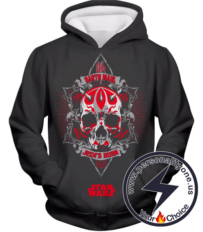 Star Wars Amazing Art Darth Maul Symbol Star Wars Promo Grey Hoodie