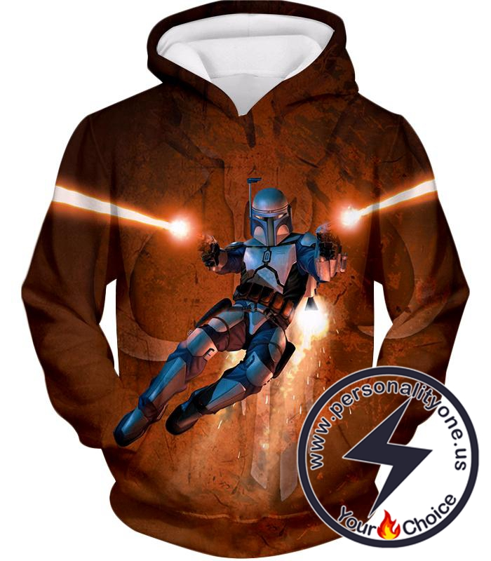 Star Wars Awesome Bounty Hunter Boba Fett Cool Action Graphic Hoodie