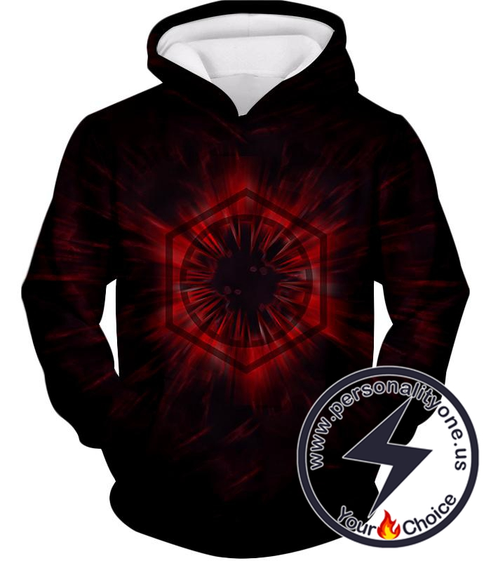Star Wars Awesome Star Wars The First Order Logo Promo Cool Black Hoodie