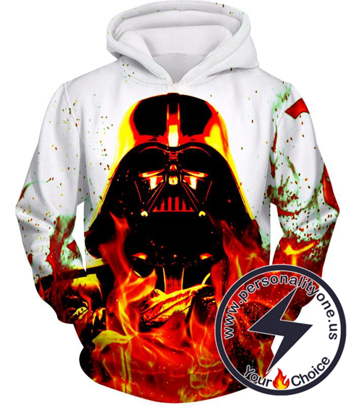Star Wars Burning Forever Sith Lord Darth Vader Awesome Graphic Hoodie