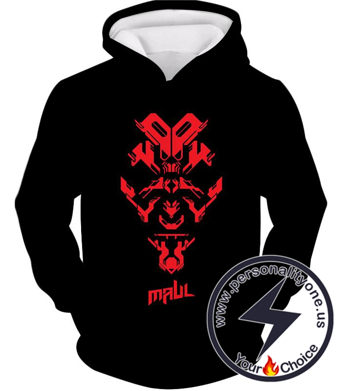 Star Wars Cool Sith Lord Darth Maul Promo Black Hoodie