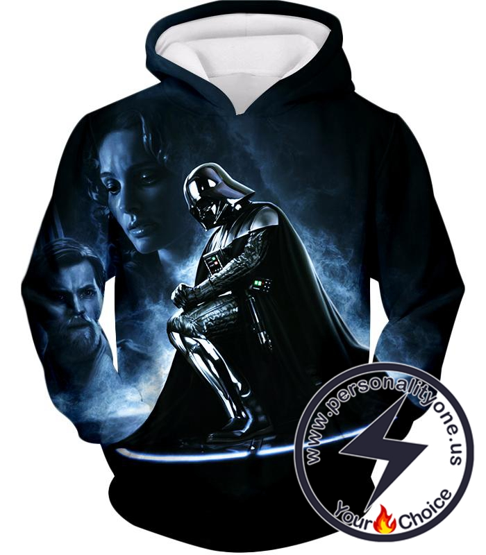Star Wars Faded to Dark Side Darth Vader Cool Action Black Hoodie