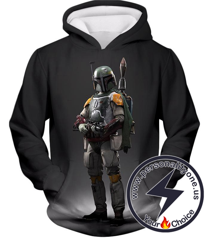 Star Wars Favourite Bounty Hunter Boba Fett Cool Black Hoodie