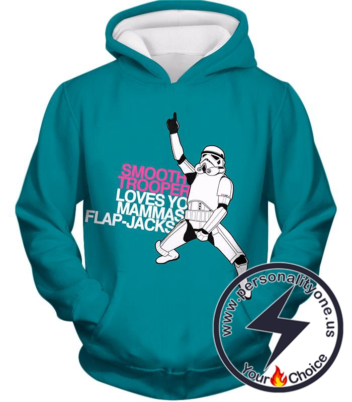 Star Wars Funny Stormtrooper Memes Awesome Blue Hoodie