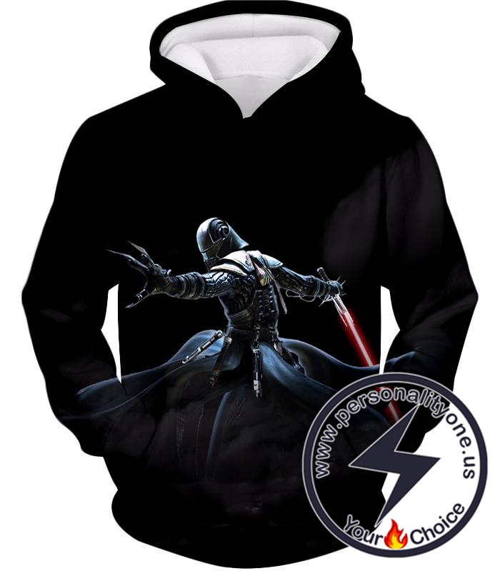 Star Wars Sith Lord Darth Starkiller Cool Action Black Hoodie