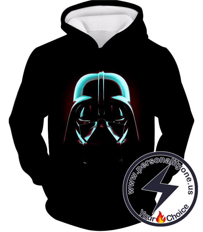 Star Wars Super Cool Sith Lord Darth Vader Mask Promo Black Hoodie