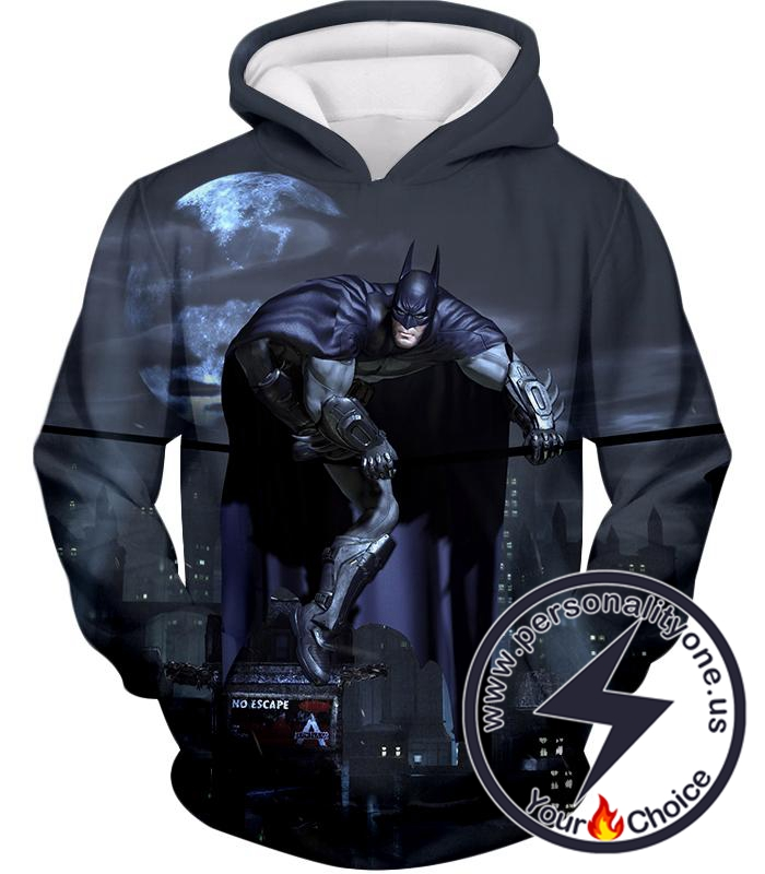 Super Cool 3D Batman Action Game Promo Graphic Hoodie