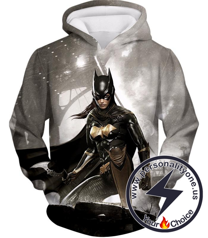 Super Cool Arkham Night Hero Batgirl HD Graphic Action Hoodie