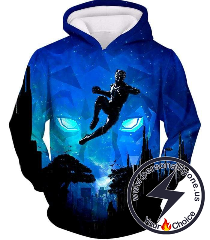 Super Cool Stealth Action Superhero Black Panther Awesome Hoodie