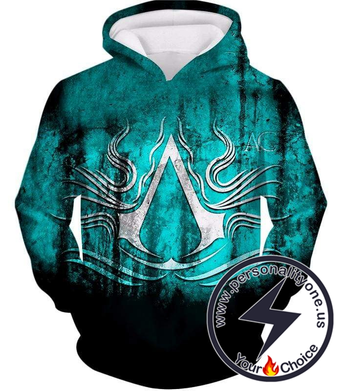 Ultimate Assassin's Creed Logo Awesome Graphic Promo Hoodie