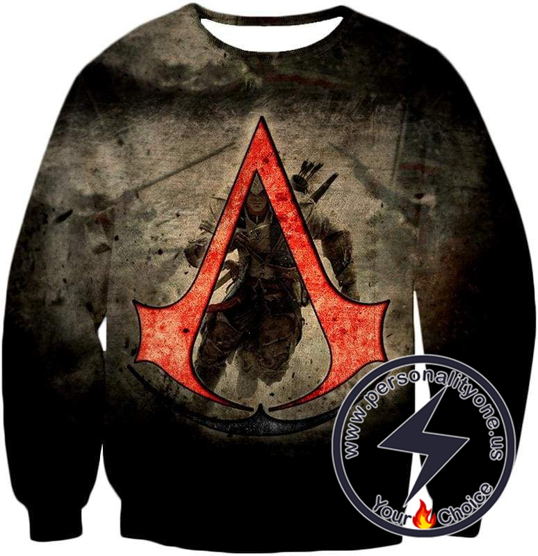 Amazing Assassin's Creed III Logo Promo Awesome Graphic Sweatshirt