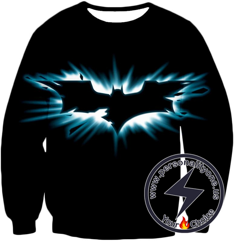 Amazing Batman Logo Graphic Promo Black Sweatshirt