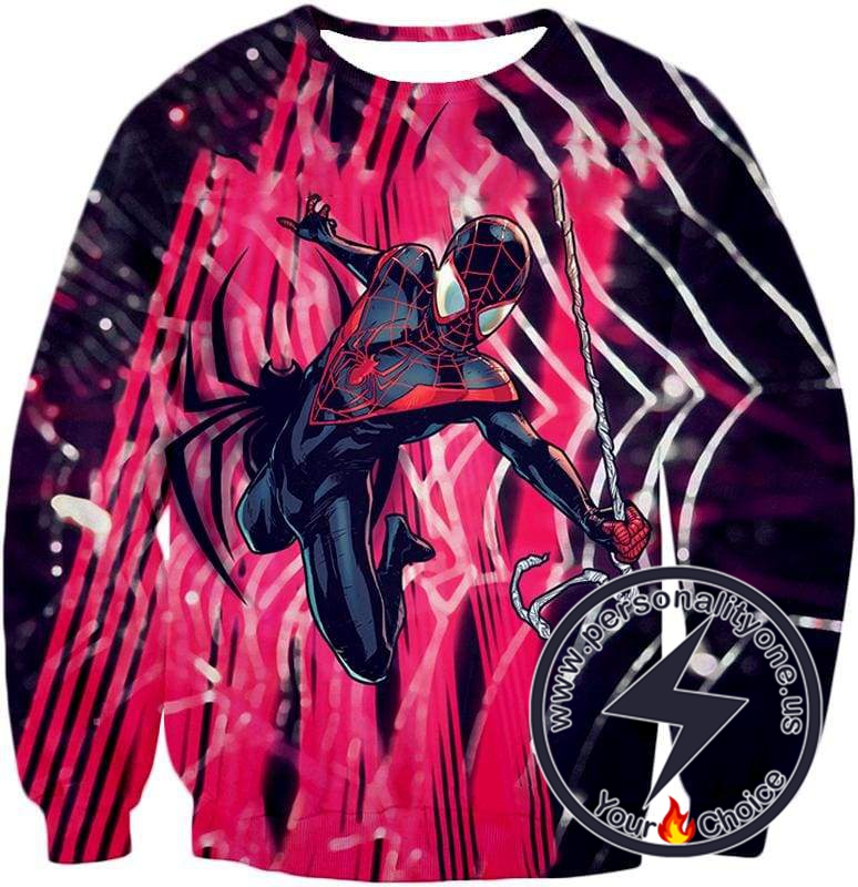 Amazing Black Spiderman Animated Action Sweatshirt