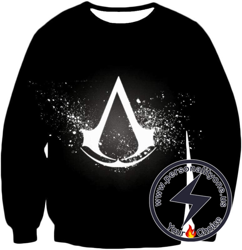 Amazing Logo Assassin's Creed Cool Black Sweatshirt