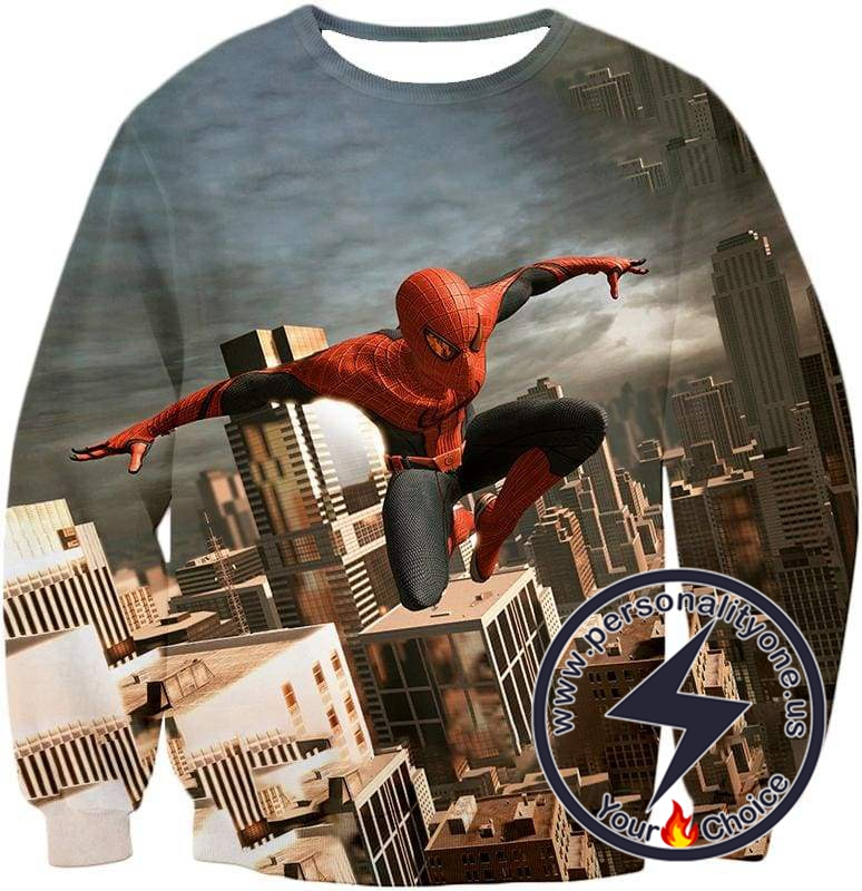 Amazing Spiderman 3D Action Sweatshirt