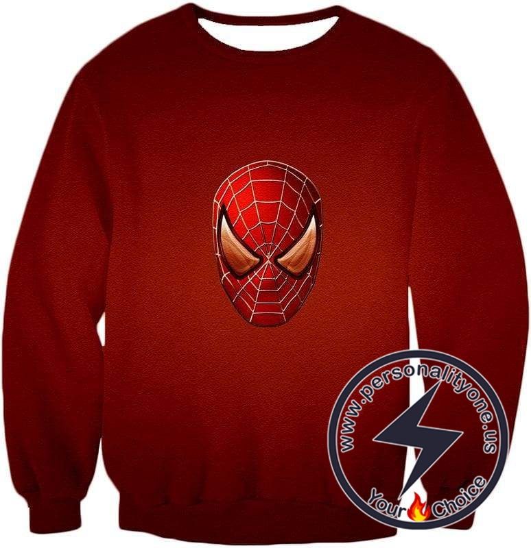 Amazing Spiderman Mask Promo Red Sweatshirt