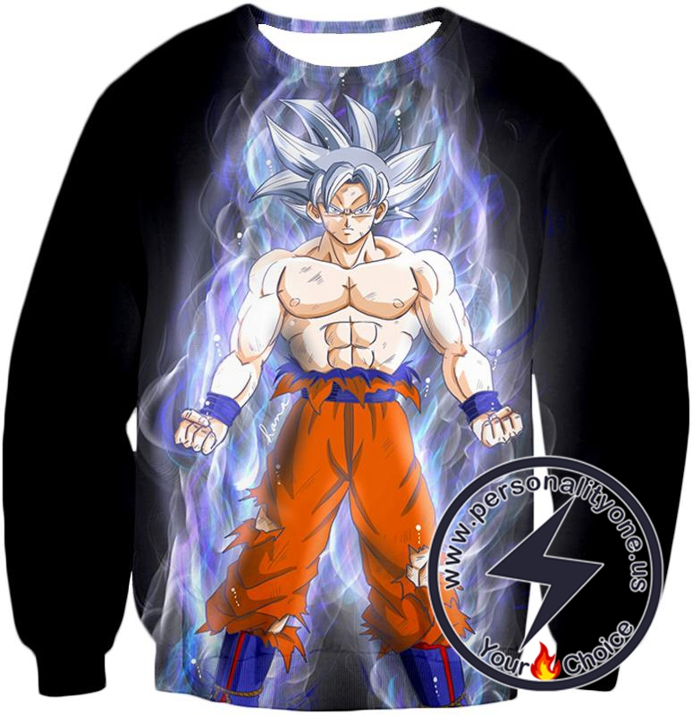 Dragon Ball Super Incredible Form Goku Super Saiyan White Cool Promo Black Sweatshirt