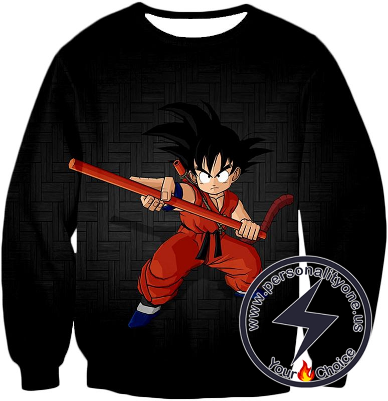 Dragon Ball Super Super Cool Kid Goku Awesome Promo Anime Black Sweatshirt
