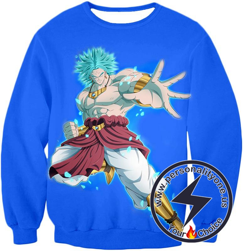 Dragon Ball Super The Legendary Super Saiyan Broly Awesome Action Anime Blue Sweatshirt
