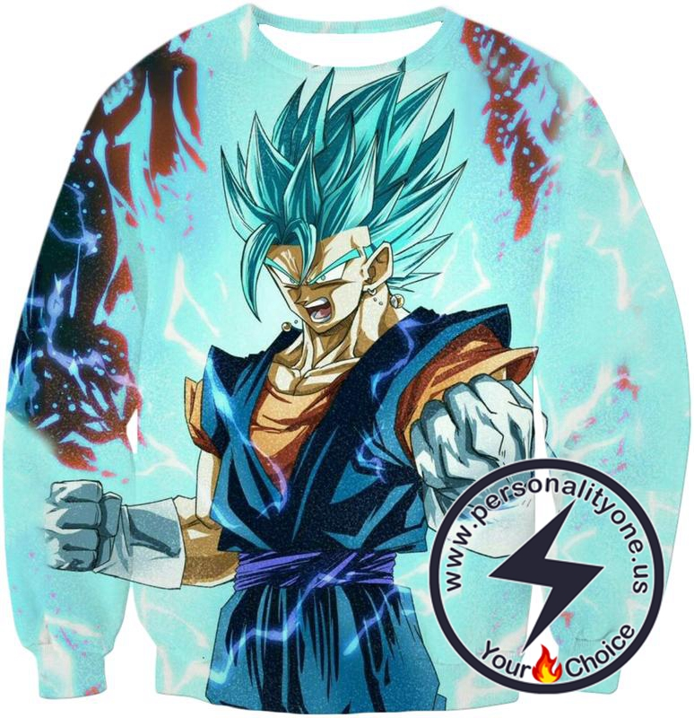 Dragon Ball Z Sweatshirt - Super Saiyan Blue Vegito Power