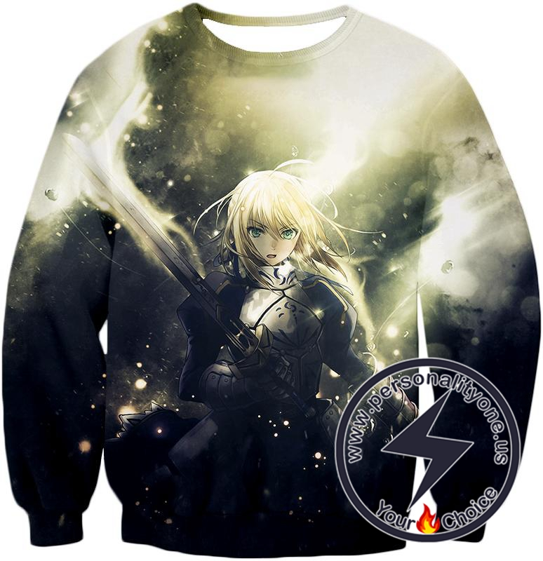Fate Stay Night Best Fate Series Fighter Saber Arturia Pendragon Sweatshirt