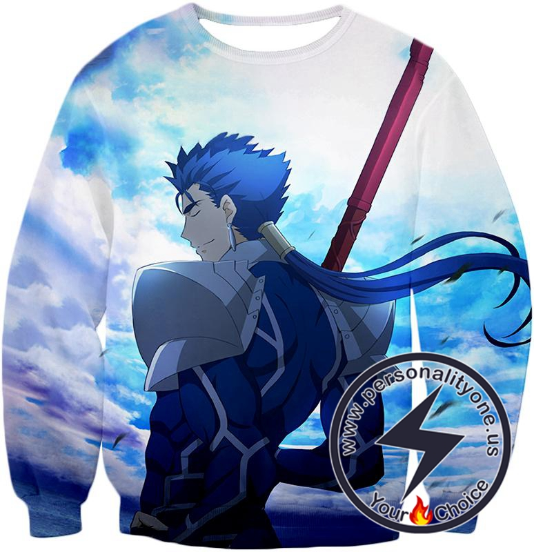 Fate Stay Night Fate Stay Night Lancer Blue Spearman of the Wind Cool Sweatshirt