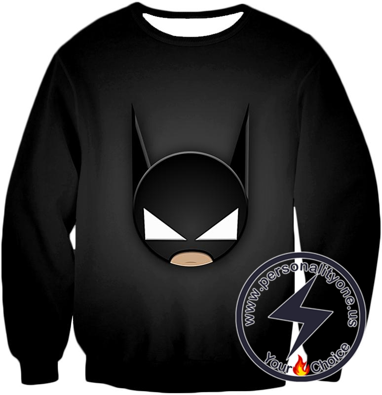 Funny Batman Animated Mask Cool Black Sweatshirt
