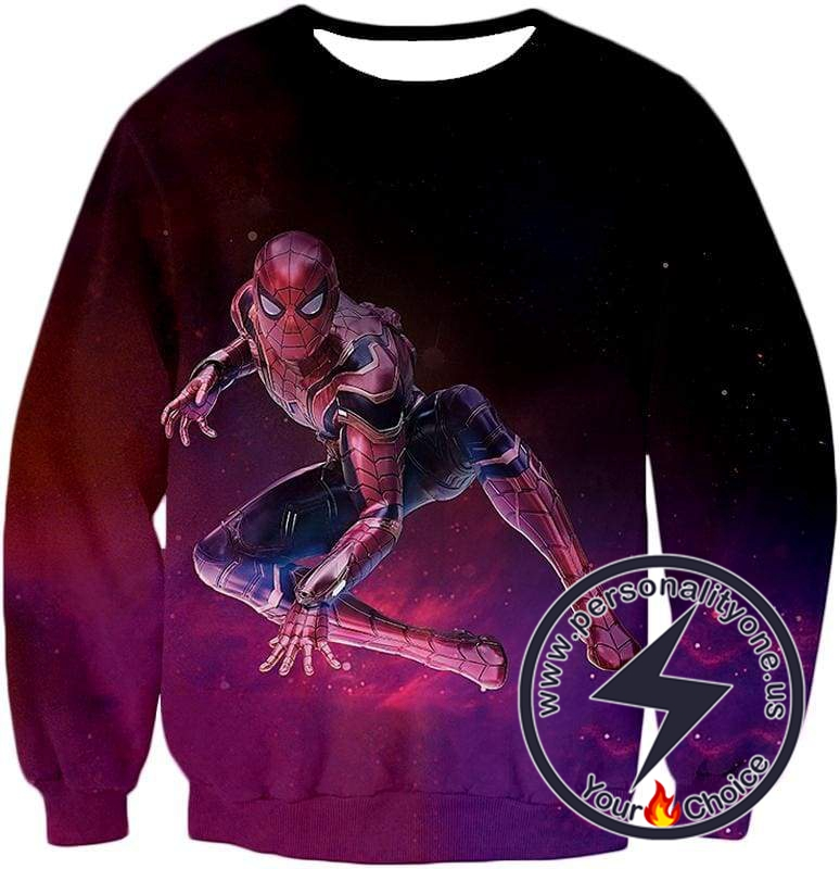 Marvels Latest Homecoming Spider Suit Spiderman Action Sweatshirt