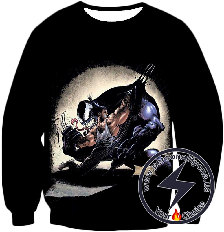 Marvels Wolverine Vs Venom Sweatshirt