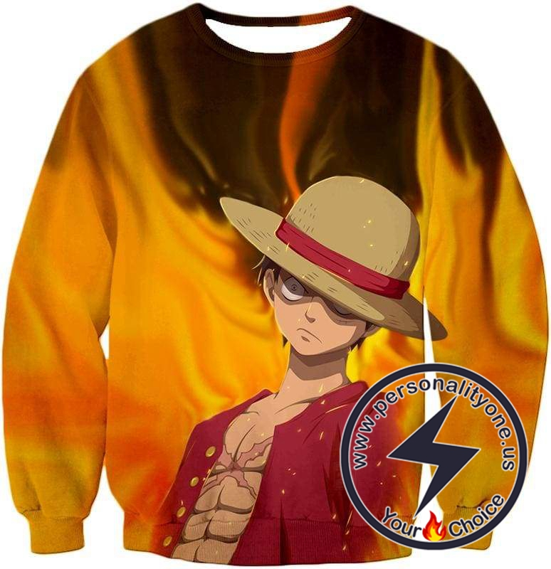 One Piece Amazing Pirate Straw Hat Luffy Cool Action Sweatshirt
