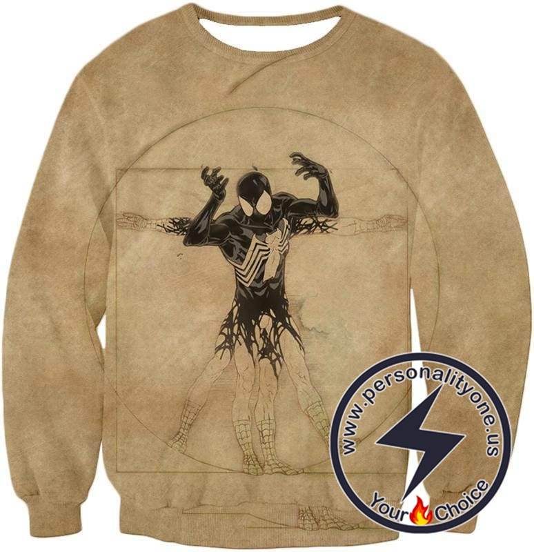 Spiderman Symbiote Bond Cool Brown Sweatshirt