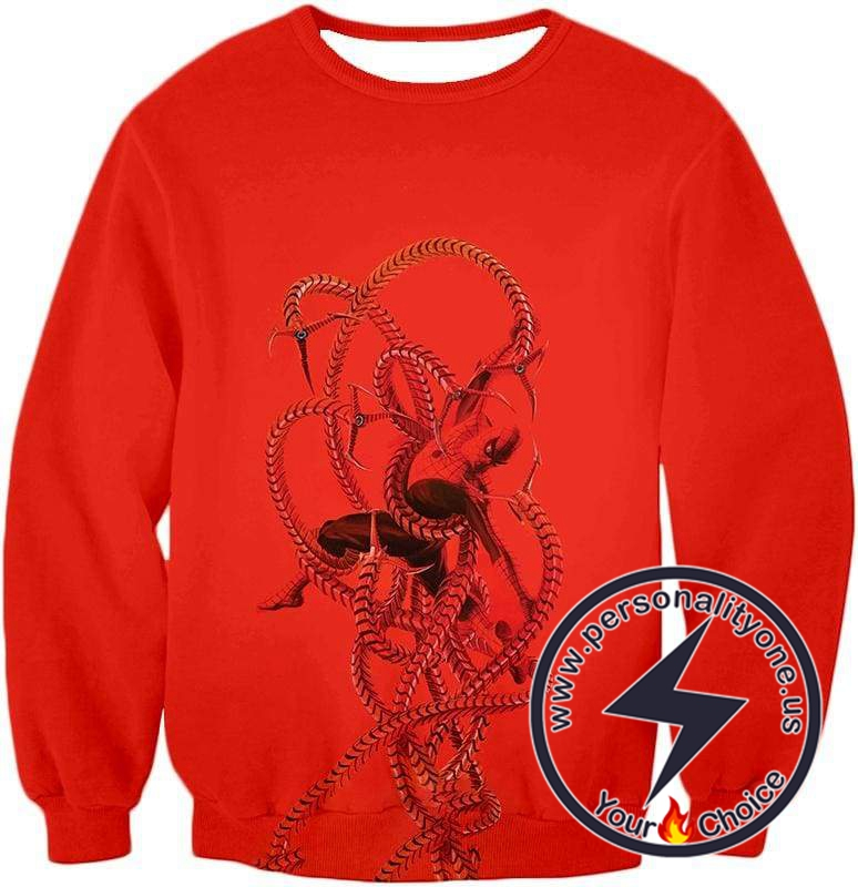 Spiderman in Octopus Claws Cool Red Action Sweatshirt