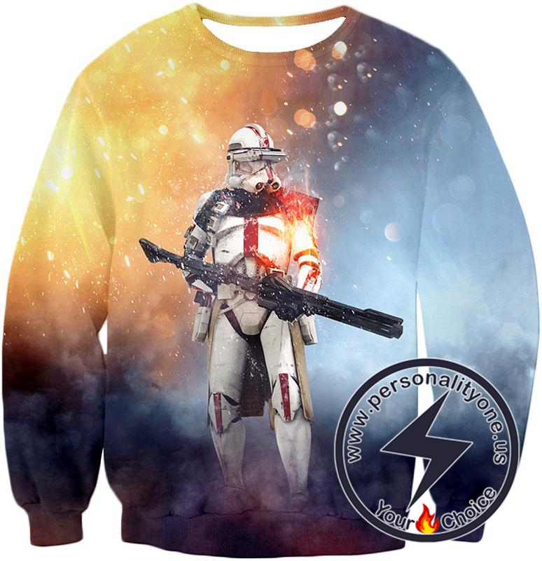 Star Wars Star Wars Clone Wars Cool Command Trooper Graphic Action Sweatshirt